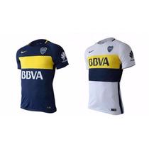Camisetas Boca Jrs Modelo Nuevo Titular Y Suplente !!!