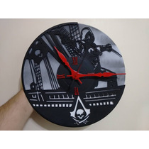 Relojes En Vinilo Real De 30 Cm De Diametro! Artesanales..!!