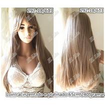 Peruca Longa Parece Cabelo Humano 292/18/613 Loiro 240g 65cm