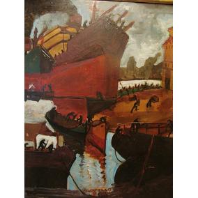 Sosatelo / Marina Puerto Barco / Oleo / 86 X 70 # 1589