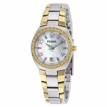 Reloj Fossil Am4183 Plata Dorado Dama Original Envío Gratis*