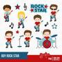 Kit Imprimible Rock Stars Imagenes Clipart Cod 2