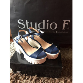 Sandalias Azul Oscuro Studio F
