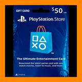 Play Station Network Card $ 50 Psn Store U. S. A (oferta )