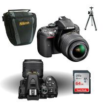 Câmera Nikon D5300+18-55+64gbc/10+bolsa+tripe+kit Limpeza