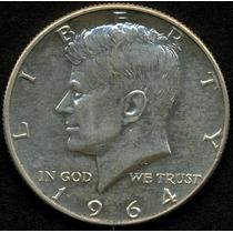 Guardia Imp. Usa 1/2 Dolar - Kennedy 1964 Plata Excelente