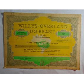 Willys Overland Do Brasil Ações Memorabilia #01