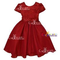 Vestido De Festa Infantil Luxo Tamanhos 04 Ao 12 Com Coroa