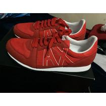 Tenis Armani Exchange Retro Logo Sneaker Talla 27 Mex 9 Usa