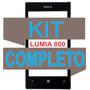 Vidro Tela Visor Vidro S/ Touch Lumia 800 + Kit Completo