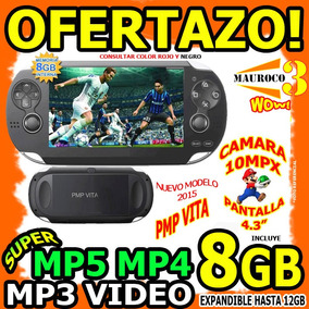 Mp5 Mp4 Mp3 4gb A 12gb Pmp Vita Camara Juego Portatil Wow