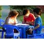 Mesa Plastica Para Niños + 2 Sillitas Reforzadas Colombraro