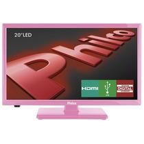 Tv 20 Led Hd Ph20u21dr 2 Hdmi, 1 Usb, Dtv, Rosa - Philco