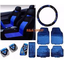 Corsa Wind Jogo Azul Capa Banco Volante Kit Tapete Pedaleira