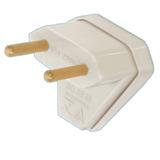 Tomada Fame Macho Plug Energia Elétrica 2 Pinos 10a 90graus