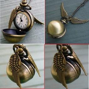 Harry Potter´s Quidditch Snitch Reloj Dije De Colección