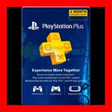 Tarjeta Playstation Psn Plus 3 Meses Usa- Ps4 Ps3 Ps Vita
