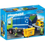 Playmobil 6110 Camion D Reciclaje Basura Ciudad Retromex