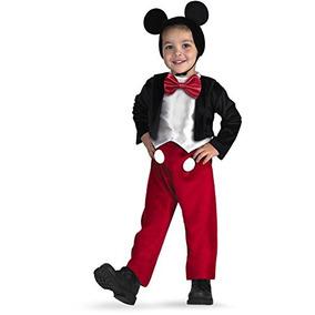 Disfraz De Micket Mouse De Lujo Para Niño Talla 4 - 6