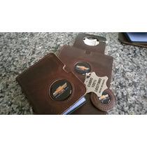 Kit Porta Documentos+lixeirinha+chaveiro Couro 100% Legítimo