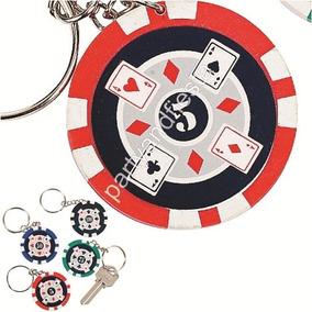 12 Llaveros X $ 109 Ficha Casino Poker Colores Surtidos