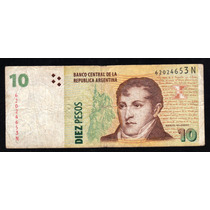 Billete 10 Pesos Bottero 3439 Tirada Corta