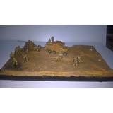 Diorama,maqueta Soldados 8ºvo Ejercito Ww2 Desierto 1/72