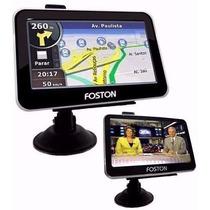 Mini Tv Digital Portatil Com Tela 4.3 Polegadas E Gps