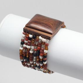 Bracelete Divanet Feminino Miçangas & Madeira - Importado