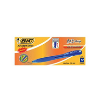 Bic Boligrafo Bic Bu3 Grip Retractil Azul C/12