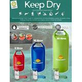 Kit Com 3 Sacos Estanques Impermeáveis Keep Dry Guepardo