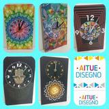 Reloj De Pared Med25x15-mano De Fatima-mandalas-om-ojo Horus