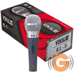 Microfone Vokal Dinâmico Kl5 Profissional + Cabo - Goiás