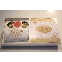 50 Caixas Dia Das Mães Com Toalha Bordada Lembrança Mãe
