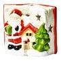 Enfeite Natal Cerâmica - 1 Led - Livro Papai Noel