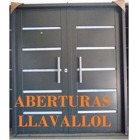 Puerta Hoja Doble 160x200 Porton Chapa Inyectada Reforzado