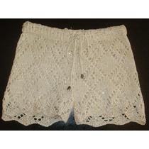 Short Croche Verão Calor Curto Paetes Praia Boho