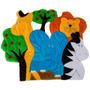 Tapete Para Quarto De Bebê Safari Animais 1 Peça Lb507