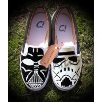 Star Wars Zapatillas Pintadas A Mano