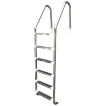 Escada Para Piscina - Aço Inox 304 - 6 Degraus Em Aço Inox