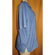 Camisa Jeans Feminina Marca Ana Cecilia Tam.48 S/strech Cx2