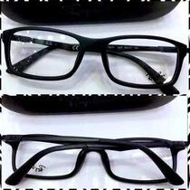 Rb7017 Armação Óculos Esportivo Masculino Receituário Preto