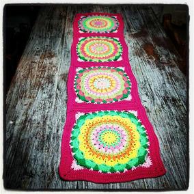 Camino De Mesa Tejido Al Crochet - Mandalas