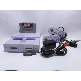 Consola Snes D Nintendo Con 2 Controles Super Street Fighter