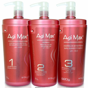 Kit Escova Progressiva Agimax Red Kera-x 1000ml + Brinde