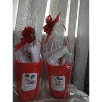 Souvenir 10 Vasos + Toalla + Cepillo Dientes.imagen Vinilica