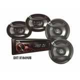 Stereo Pioneer + Parlantes 6x9 + Parlantes 6 1/2 Dxt-x1869u