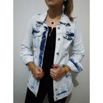 Jaqueta Maxi Feminina Lady Rock Blusa Jeans Casaco Rasgada