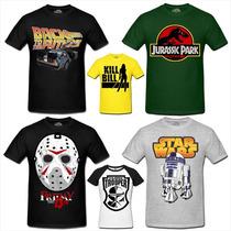 Camisetas Star Wars Filmes Séries Super Heróis Bandas Games
