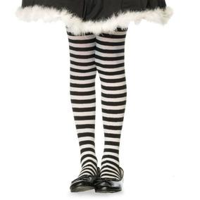 Meia-calça Listrada Preto E Branco Infantil Leg Avenue 4-6